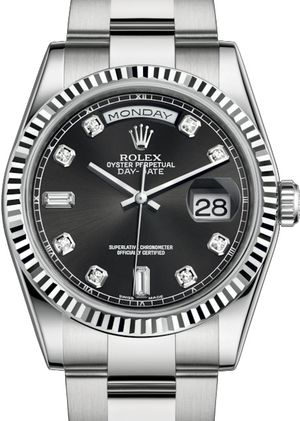 118239 Black set with diamonds Rolex Day-Date 36