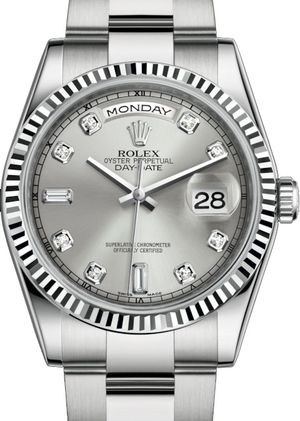 118239 Silver set with diamonds Rolex Day-Date 36