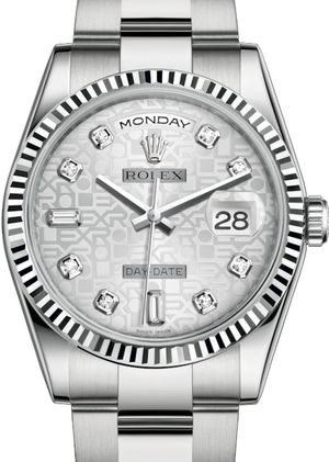 118239 Silver Jubilee design set with diamonds Rolex Day-Date 36