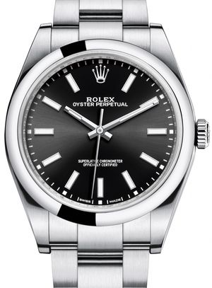 114300 Black Rolex Oyster Perpetual