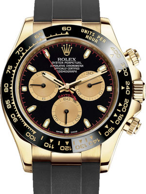 Rolex Cosmograph Daytona 116518LN Black and champagne-colour