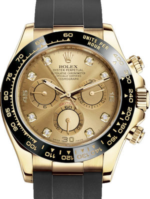 Rolex Cosmograph Daytona 116518LN Champagne-colour set with diamonds