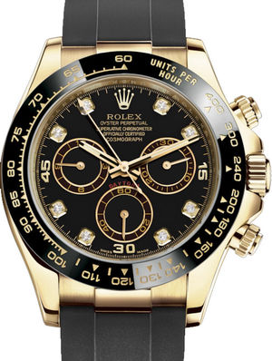 Rolex Cosmograph Daytona 116518LN Black set with diamonds