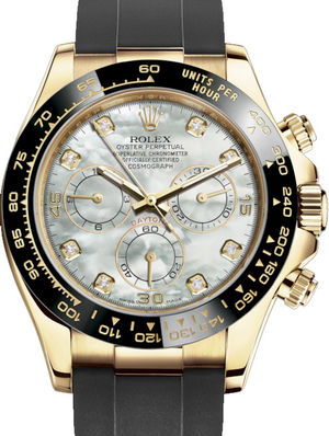 Rolex Cosmograph Daytona 116518LN White mother-of-pearl set with diamonds