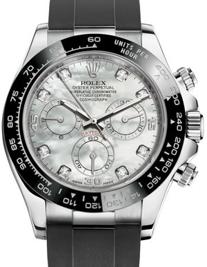 Rolex Cosmograph Daytona 116519LN White mother-of-pearl set with diamonds