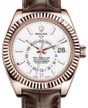 326135 White Rolex Sky-Dweller
