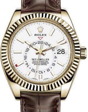326138 White Rolex Sky-Dweller