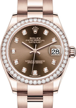 Rolex Datejust 31 278285RBR Chocolate set with diamonds