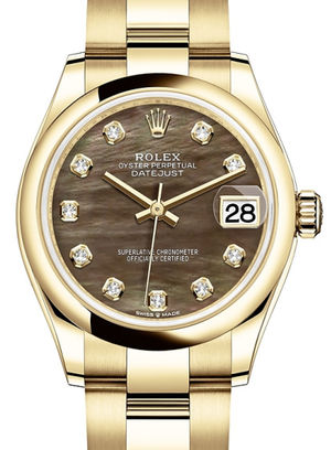278248 Black mother-of-pearl set with diamonds Rolex Datejust 31