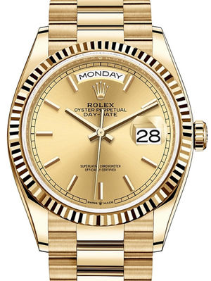 128238 Champagne-colour Rolex Day-Date 36