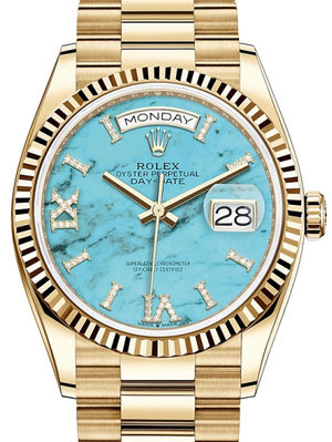 128238 Turquoise Rolex Day-Date 36