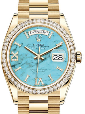 128348RBR Turquoise Rolex Day-Date 36