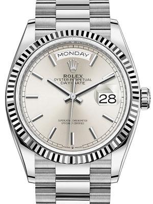 128239 Silver Rolex Day-Date 36