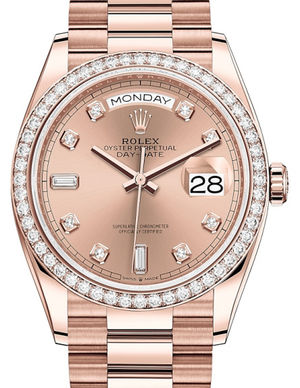 128345RBR Rose colour set with diamonds Rolex Day-Date 36