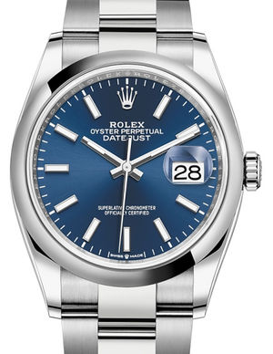 126200 Blue Rolex Datejust 36
