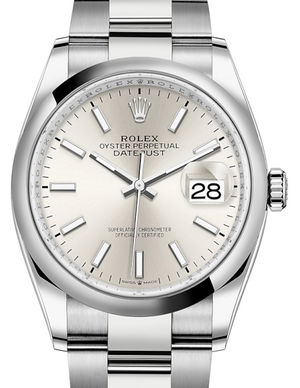 126200 Silver Rolex Datejust 36