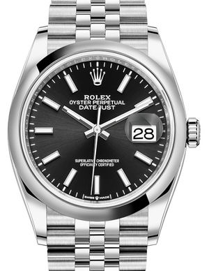 126200 Black Rolex Datejust 36