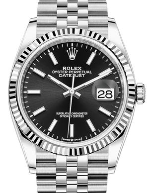 126234 Black Rolex Datejust 36