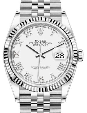 126234 White Roman Rolex Datejust 36