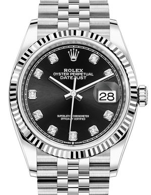 Rolex Datejust 36 126234 Black set with diamonds