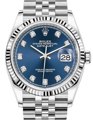 126234 Blue set with diamonds Rolex Datejust 36