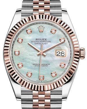 Rolex Datejust 41 126331 White mother-of-pearl set with diamonds