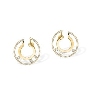 Small Hoop Yellow Gold Messika Move Romane