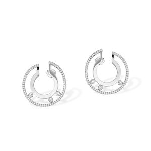Small Hoop White Gold Messika Move Romane