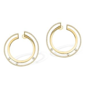 Large Hoop Yellow Gold Messika Move Romane
