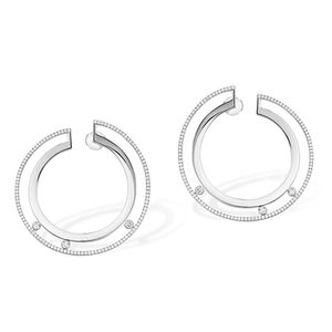 Large Hoop White Gold Messika Move Romane