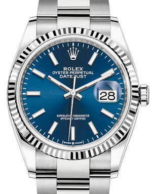 126234 Blue index Rolex Datejust 36