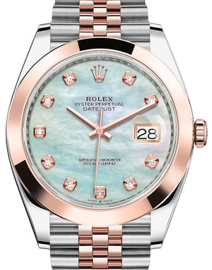 Rolex Datejust 41 126301 White mother-of-pearl set with diamonds