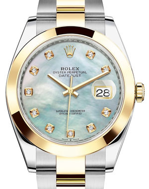Rolex Datejust 41 126303 White mother-of-pearl set with diamonds