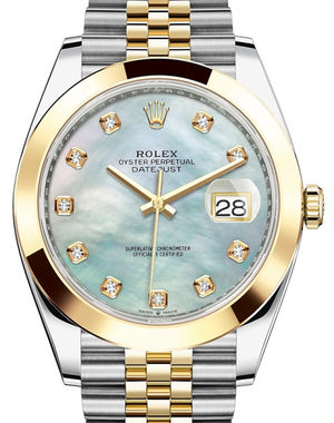 Rolex Datejust 41 126303 White mother-of-pearl set with diamonds JB