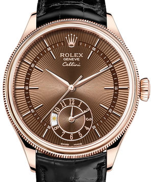 Rolex Cellini 50525 Brown guilloche dial