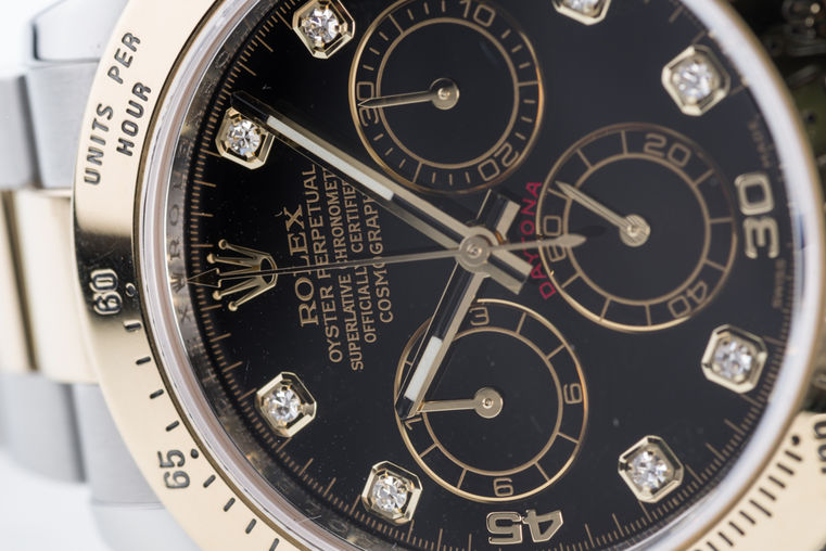 116503 Black set with diamonds USED Rolex Cosmograph Daytona