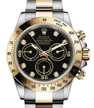 Rolex Cosmograph Daytona 116503 Black set with diamonds USED
