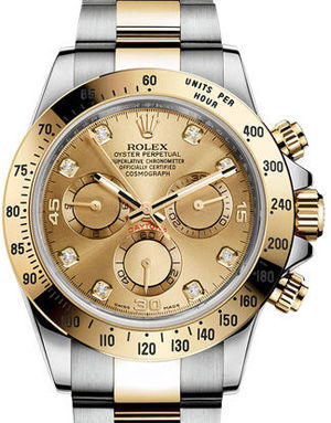 Rolex Cosmograph Daytona 116523 Champagne set with diamonds USED