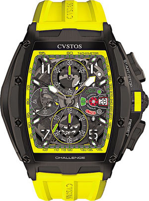 Challenge III Chrono Black Steel Yellow Cvstos Challenge Chrono
