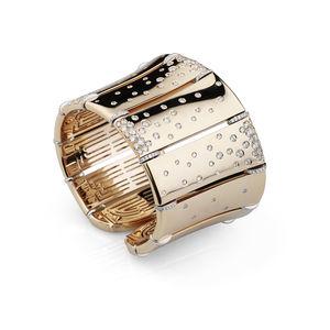rose gold cuff bangle with diamonds Verdi Gioielli Chillout
