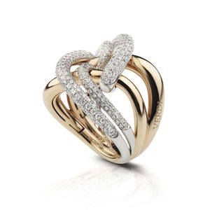 rose and white gold ring diamonds Verdi Gioielli Chillout