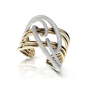 rose and white gold bangle diamonds Verdi Gioielli Chillout