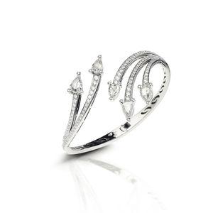 White gold bangle with diamonds Verdi Gioielli Swing