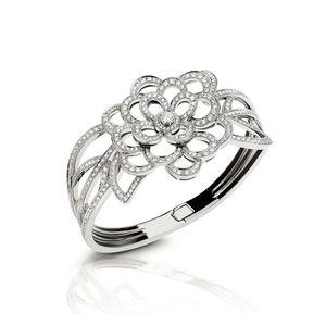 White gold bangle with diamonds2 Verdi Gioielli Swing