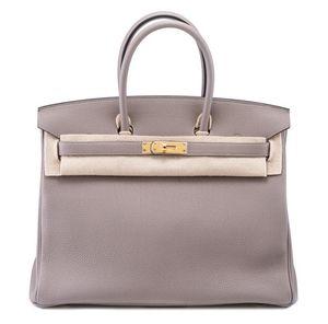 Birkin 35 Gris Asphalte Hermès Bag