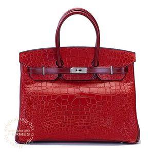 Birkin 35 Rouge H/Rouge H/Rouge H Hermès Bag