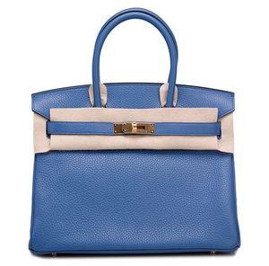 Birkin 30 Bleu Agate Hermès Bag
