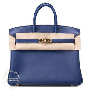 Birkin 25 Blue Sapphire Hermès Bag