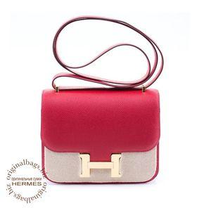 Constance 18cm Rouge Casaque Hermès Bag