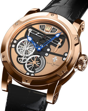 transcontinental pink gold Louis Moinet Limited Edition